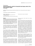 """Báo cáo y học: """" Intensive glycemic control in traumatic brain injury: what is the ideal glucose range"""""""