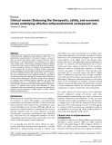 "Báo cáo y học: ""Clinical review: Balancing the therapeutic, safety, and economic issues underlying effective antipseudomonal carbapenem use"""