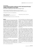 """Báo cáo y học: """"Circuit lifespan during continuous renal replacement therapy: children and adults are not equal"""""""