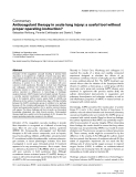 """Báo cáo y học: """"Anticoagulant therapy in acute lung injury: a useful tool without proper operating instruction"""""""