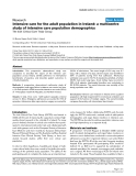 """Báo cáo y học: """"Intensive care for the adult population in Ireland: a multicentre study of intensive care population demographics"""""""