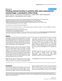 """Báo cáo y học: """"Pituitary-adrenal function in patients with acute subarachnoid haemorrhage: a prospective cohort study"""""""