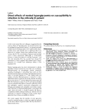 """Báo cáo y học: """"Direct effects of modest hyperglycaemia on susceptibility to infection in the critically ill patien"""""""