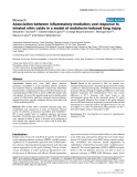 """Báo cáo y học: """"Association between inflammatory mediators and response to inhaled nitric oxide in a model of endotoxin-induced lung injury"""""""