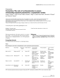 """Báo cáo y học: """"Correction: The role of corticosteroids in severe community-acquired pneumonia: a systematic review"""""""