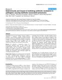"Báo cáo y học: ""Determinants and impact of multidrug antibiotic resistance in pathogens causing ventilator-associated-pneumonia"""