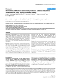 """Báo cáo y học: """"Recombinant human activated protein C ameliorates oleic acid-induced lung injury in awake sheep"""""""