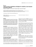 Báo cáo y học: Clinical review: Ventilatory strategies for obstetric, brain-injured and obese patients