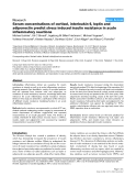 """Báo cáo y học: """"Serum concentrations of cortisol, interleukin 6, leptin and adiponectin predict stress induced insulin resistance in acute inflammatory reaction"""""""