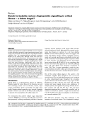 """Báo cáo y học: """" Bench-to-bedside review: Angiopoietin signalling in critical illness – a future target"""""""