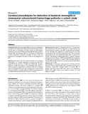 "Báo cáo y học: ""Cerebral microdialysis for detection of bacterial meningitis in aneurysmal subarachnoid hemorrhage patients: a cohort study"""