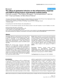 """Báo cáo y học: """"The effect of glutamine infusion on the inflammatory response and HSP70 during human experimental endotoxaemia"""""""