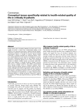 """Báo cáo y học: """"Conceptual issues specifically related to health-related quality of life in critically ill patients"""""""