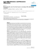 """Bóa cáo y học: """"Estimating the cost of cervical cancer screening in five developing countries"""""""