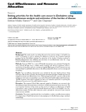 "Báo cáo y học: ""Setting priorities for the health care sector in Zimbabwe using cost-effectiveness analysis and estimates of the burden of disease"""