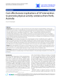 """Báo cáo y học: """"Cost-effectiveness implications of GP intervention to promote physical activity: evidence from Perth, Australia"""""""