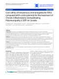 "Báo cáo y học: "" Cost-utility of Intravenous Immunoglobulin (IVIG) compared with corticosteroids for the treatment of Chronic Inflammatory Demyelinating Polyneuropathy (CIDP) in Canada"""