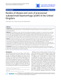 "Báo cáo y học: ""Burden of disease and costs of aneurysmal subarachnoid haemorrhage (aSAH) in the United Kingdom"""