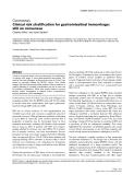 "Báo cáo y học: ""Clinical risk stratification for gastrointestinal hemorrhage: still no consensus"""