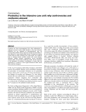 "Báo cáo y học: ""Probiotics in the intensive care unit: why controversies and confusion abound"""