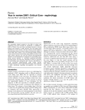 """Báo cáo y học: """"Year in review 2007: Critical Care - nephrology"""""""