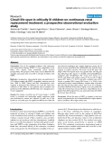 """Báo cáo y học: """"Circuit life span in critically ill children on continuous renal replacement treatment: a prospective observational evaluation study"""""""