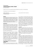 "Báo cáo y học: ""Understanding cardiac output"""