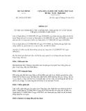 BỘ TÀI CHÍNH -------Số: 136/2011/TT-BTCCỘNG HÒA XÃ HỘI CHỦ NGHĨA VIỆT NAM Độc