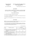 Quyết định số 27/2011/QĐ-UBND
