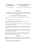 Quyết định số 4834/QĐ-UBND