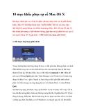 10 mẹo khắc phục sự cố Mac OS X