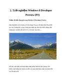 2. Trải nghiệm Windows 8 Developer Preview (P2)