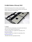 Cài đặt Windows 8 lên máy MAC