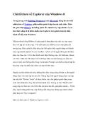 Chi tiết hơn về Explorer của Windows 8