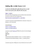 Hướng dẫn cài đặt Ubuntu 11