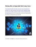 Hướng dẫn sử dụng lệnh find trong Linux