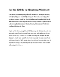 Sao lưu dữ liệu tự động trong Windows 8