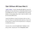Tạo USB boot với Linux Mint 11