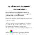 Tự đổi màu Aero theo ảnh nền desktop Windows 8