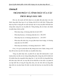 Chương 2: Quan hệ giữa thành phần và tính chất sử dụng của các phân đoạn dầu
