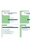 Giáo trình quản trị mạng Windows 2000  nâng cao