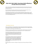 Giáo trình hình thành ứng dụng Aethia Dbackup về cấu hình và vị trí server p1