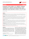 "Báo cáo y học: ""Evaluation of the effects of a VEGFR-2 inhibitor compound on alanine aminotransferase gene expression and enzymatic activity in the rat liver"""