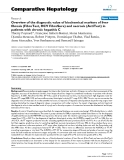 """Báo cáo y học: """"Overview of the diagnostic value of biochemical markers of liver fibrosis (FibroTest, HCV FibroSure) and necrosis (ActiTest) in patients with chronic hepatitis C"""""""