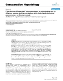 """Báo cáo y học: """" Distribution of hepatitis C virus genotypes in patients infected by different sources and its correlation with clinical and virological parameters: a preliminary study"""""""
