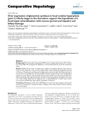 """Báo cáo y học: """"Over-expression of glutamine synthase in focal nodular hyperplasia (part 1): Early stages in the formation support the hypothesis of a focal hyper-arterialisation with venous (portal and hepatic) and biliary damage"""""""