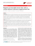 """Báo cáo y học: """"Response of sinusoidal mouse liver cells to choline-deficient ethionine-supplemented diet"""""""