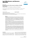 """Báo cáo y học: """"Programme costs in the economic evaluation of health interventions"""""""