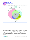 """Báo cáo y học: """"Spectral counting assessment of protein dynamic range in cerebrospinal fluid following depletion with plasma-designed immunoaffinity columns"""""""