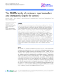 "Báo cáo y học: ""The ADAMs family of proteases: new biomarkers and therapeutic targets for cancer"""